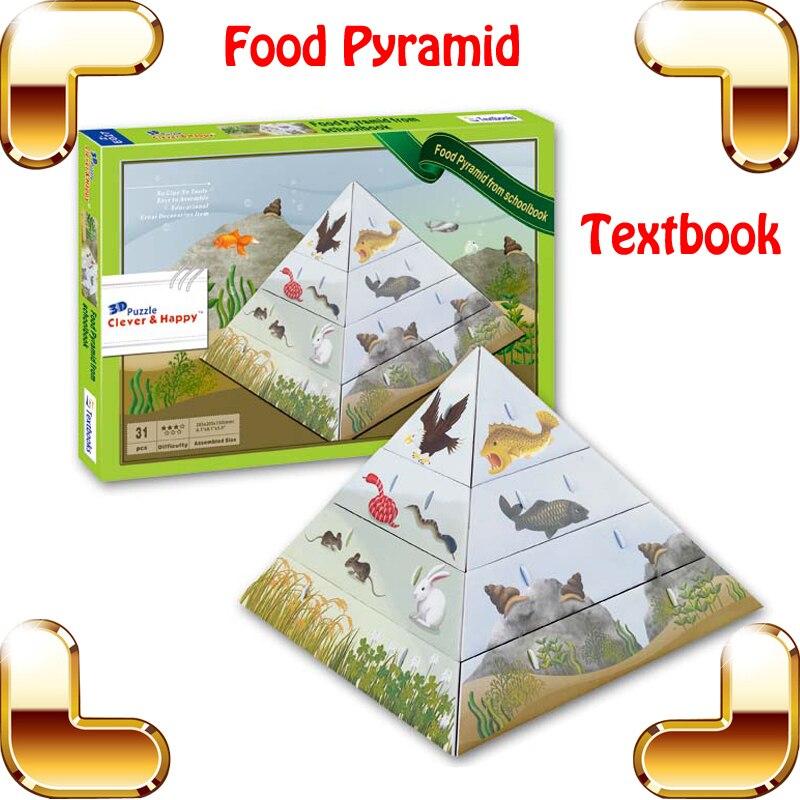 Regalo De Ano Nuevo Piramide 3d Puzzle Modelo Diy Texto