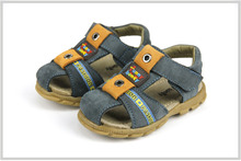Two Colors Baby Leather Sandal Toddlers Kids Sandals For Boys Childdren Sandals First Walkers Closed Toes 2-4 Years Enfant Shoes