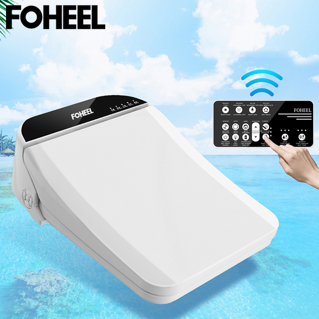 FOHEEL smart toilet seat cover electronic bidet cover toilet bowls for toilets seat heating clean dry smart toilet lid