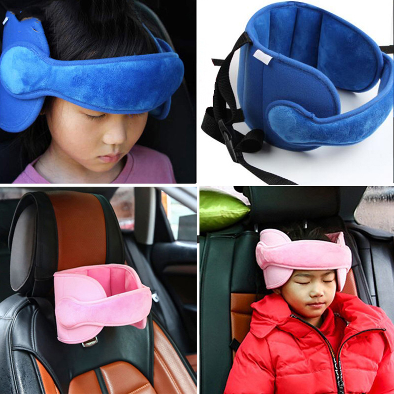 Car Seat Head Pillow Positioner Support Comfortable Safe Straps Sleep Solution Neck Travel Stroller Soft Caushion For Child image