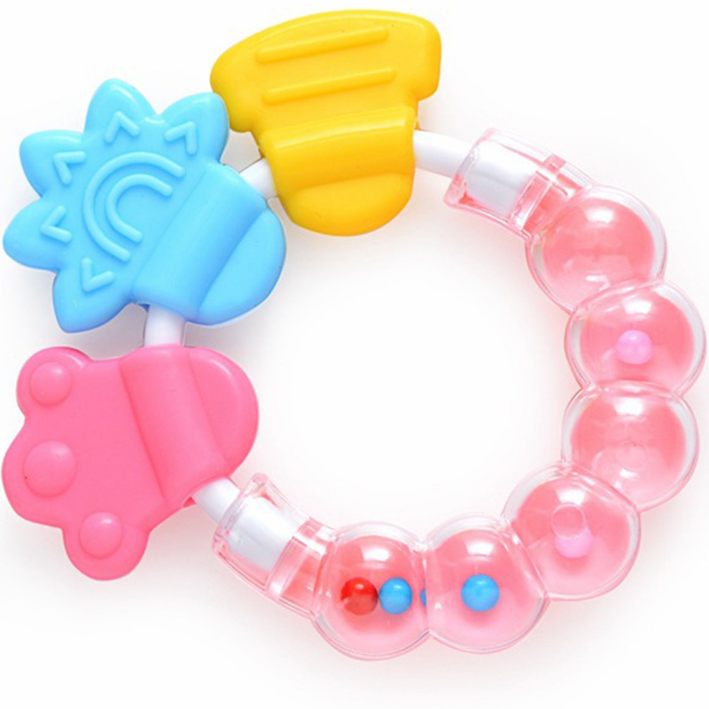 New Cartoon Baby Baby Teether Educational Toys Teeth Biting For Babies Baby Rattle Toy For Bed Bell Silicone Handbell Jingle ZJD