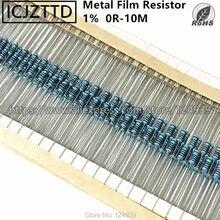 100 pcs 0.25 W 1% 1/4 W NOVO Filme De Metal 1/8 W 1/6 W 1% 0.125 W 2.7 M 2M7 3M3 3M0 3 M 3.0 M 3.3 M 3.6 M 3.9 M 3M9 3M6 4.3 M 4.7 M 4M7 4M3 5.1 M
