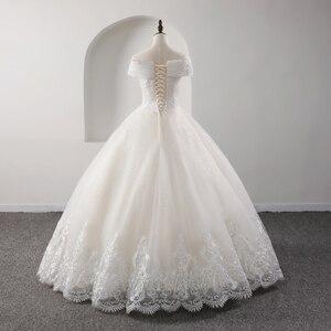 Image 2 - Fansmile yeni lüks Vintage kaliteli dantel düğün elbisesi 2020 balo prenses gelin gelinlikler Vestido De Noiva FSM 557F
