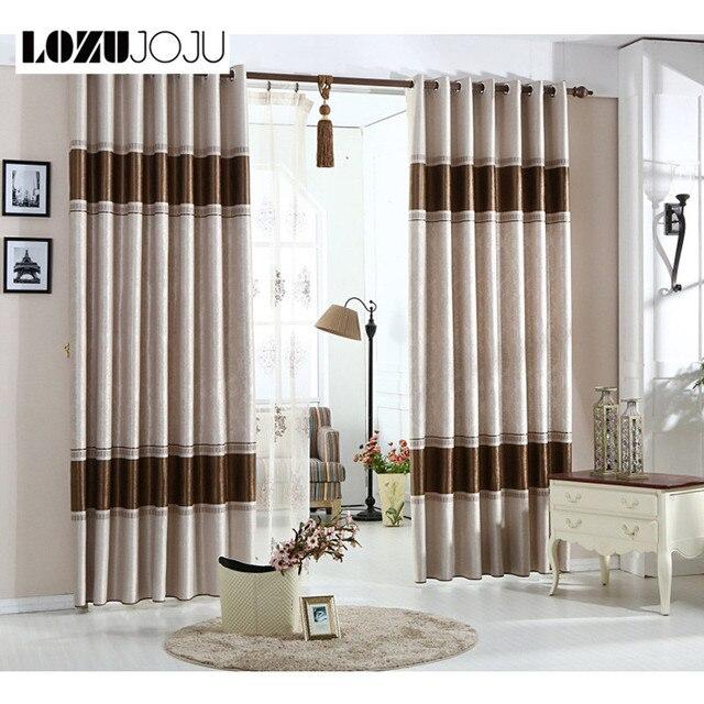 lozujoju verduisterende stoffen gemaakt gordijn europese behandeling gestreepte window bruine klaar slaapkamer gordijn gordijn schaduw living