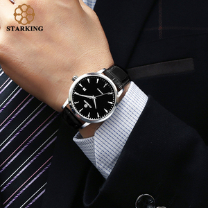 Image 4 - STARKING Automatic Watches Men Stainless Steel Business Wristwatch Leather Fashion 50M Waterproof Male Clock Relogio Masculino