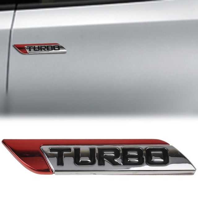 MAYITR Metal D Turbo Logo Sticker Car Emblem Turbo Charger Decal - Audi car emblem