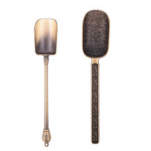 1PC Tea Scoop Spoon Chinese Tea Spoons Copper Tea Leaves Chooser Holder Chinese Kongfu Tea Tools Accessories(China)