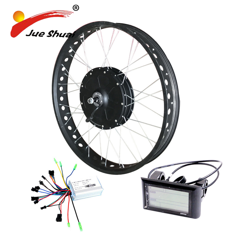 Free shipping 26*4.0 700C*4.0 Fat tire 1000W Powerful hub motor Electric Bike Conversion Kit for Mountain beach snow ebike free shipping 48v 15ah battery pack lithium ion motor bike electric 48v scooters with 30a bms 2a charger