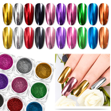 Nail Art Mirror Pigment Powder Shine Nail Glitters Metallic Color Nail