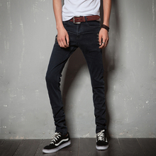2017 New mens fashion brand of high-grade decorative buttons slim casual jeans / Male fashion boutique jeans Leisure jeans pants