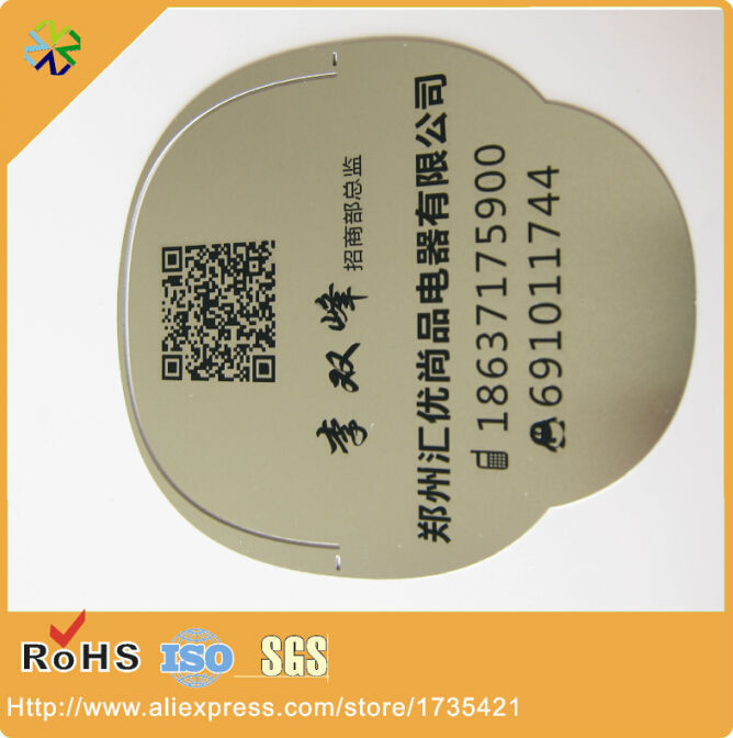 GOOD NEWS! Redesign! New choose!(500pcs/lot) stainless steel material words engraved silver metal tag printing
