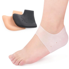 New arriver feet care socks 1pair New Silicone Moisturizing Gel Heel Socks Cracked Foot Skin Care Protectors anti cracking недорого