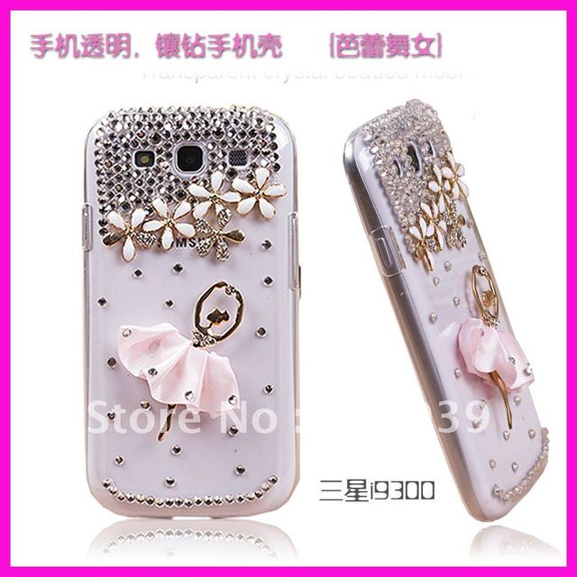 Free Shipping Luxury Bling Crystal Starry Diamond Chromed Case Back Cover for Mobile Cell Phone I9300 Galaxy S3 SIII
