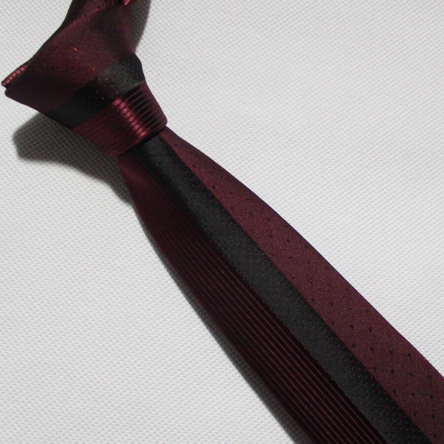 Lingyao дизайнерский галстук на панель, отличное качество, тканый галстук для жениха, свадебный красный с черными полосками и точками в подарочной коробке - Цвет: Черный