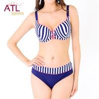 Underwire Swimwear Women 2016 Bikini Big Size Swimsuit Plus Size Vintage Sexy Large Size Bikini High