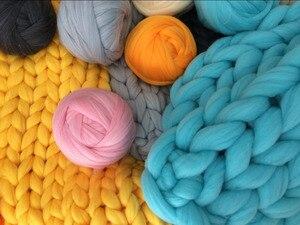 Image 3 - Fil à tricoter, bras Super épais, couverture, fil volumineux, Imitation laine mérinos, 1000g par balle, cadeau de noël