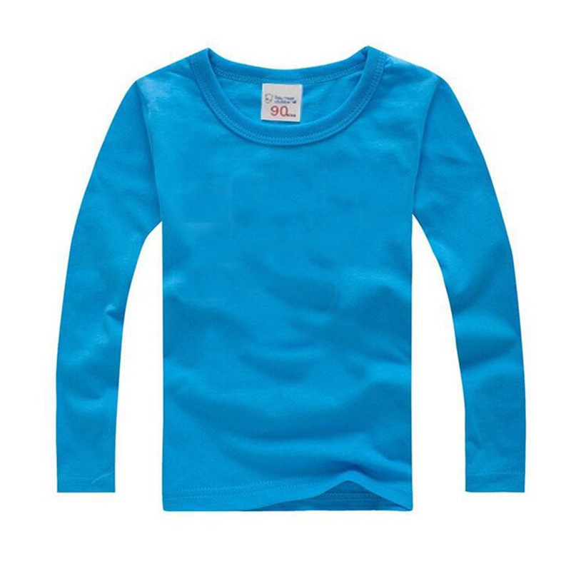 New Baby Girls Tops Children T Shirts Long Sleeve 2018 Baby Cartoon Boys T Shirt Toddler Clothes Girl Candy Colors Kids T-shirt стоимость