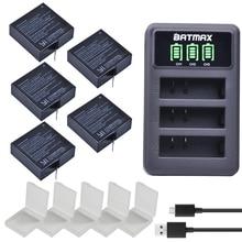 5×1400 mAh batería para Original Xiaomi Yi II Xiami yi 4 K baterías + USB LED 3 ranuras cargador para Xiaoyi Yi Lite Cámara de Acción
