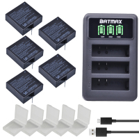 5x 1400mAh Battery For Original Xiaomi Yi II Xiami Yi 4k Batteries LED USB 3slots Charger