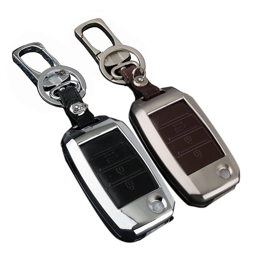 Zinc Alloy Leather Car Key Cover Case keychain For Kia Ceed rio 2017 k2 Sportage 3 R K3 K4 K5 Ceed Sorento Cerato Key Case Chain стеклоочистители kia ceed подольск