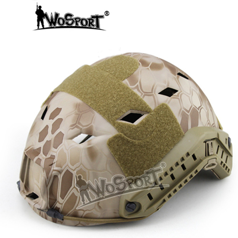 WoSporT tactique Combat Airsoft casques réglables avec Rail latéral pour militaire Airsoft Paintball armée chasse CS guerre jeu casque