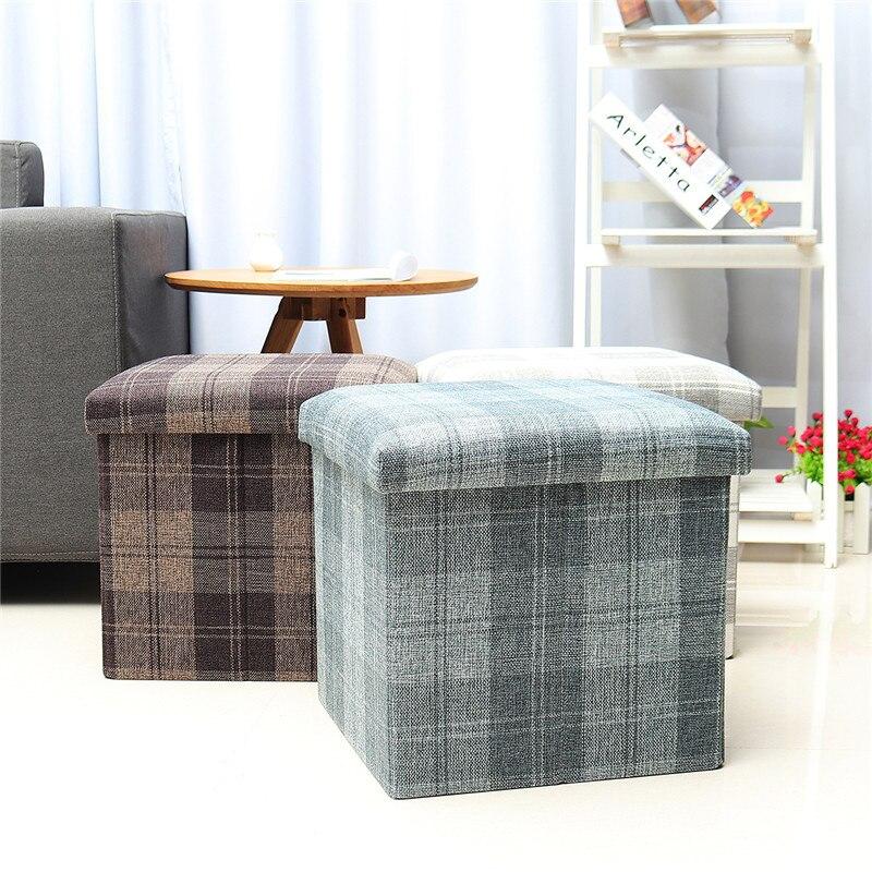 Style nordique quotidien pliant sac canapés carré de rangement de voiture thé Table tabouret chambre assis tabouret ajustement meubles de salle