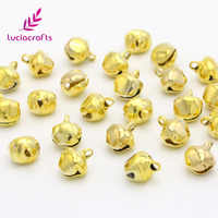 24PCS 8/10MM Gold Silver Bells Xmas Ornament Cute Jingle Bell Pendants Hanging For Christmas Tree Party DIY Decoration H0210