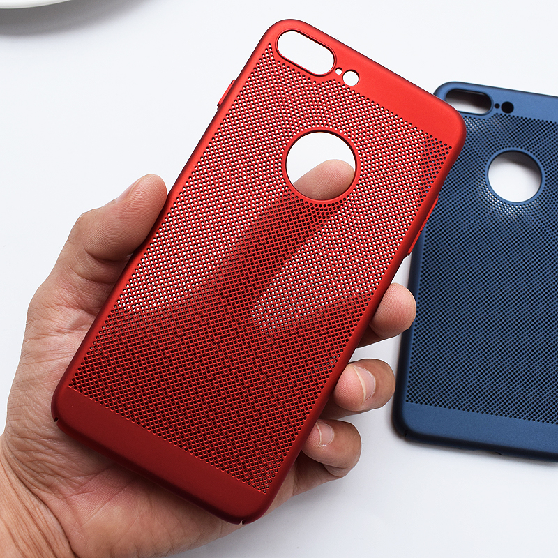 For iPhone X matte PC Case, Heat sink thin Hollow hard PC