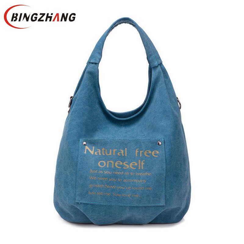 High Quality Canvas Women Bag Handbag Casual Large Capacity Hobos Female Totes Bolsas Vintage Solid Woman Shoulder Bag L4-3122 2017 fashion canvas women handbag hot sell female tote bolsas trapeze ruched solid shoulder bag casual large capacity tassel bag