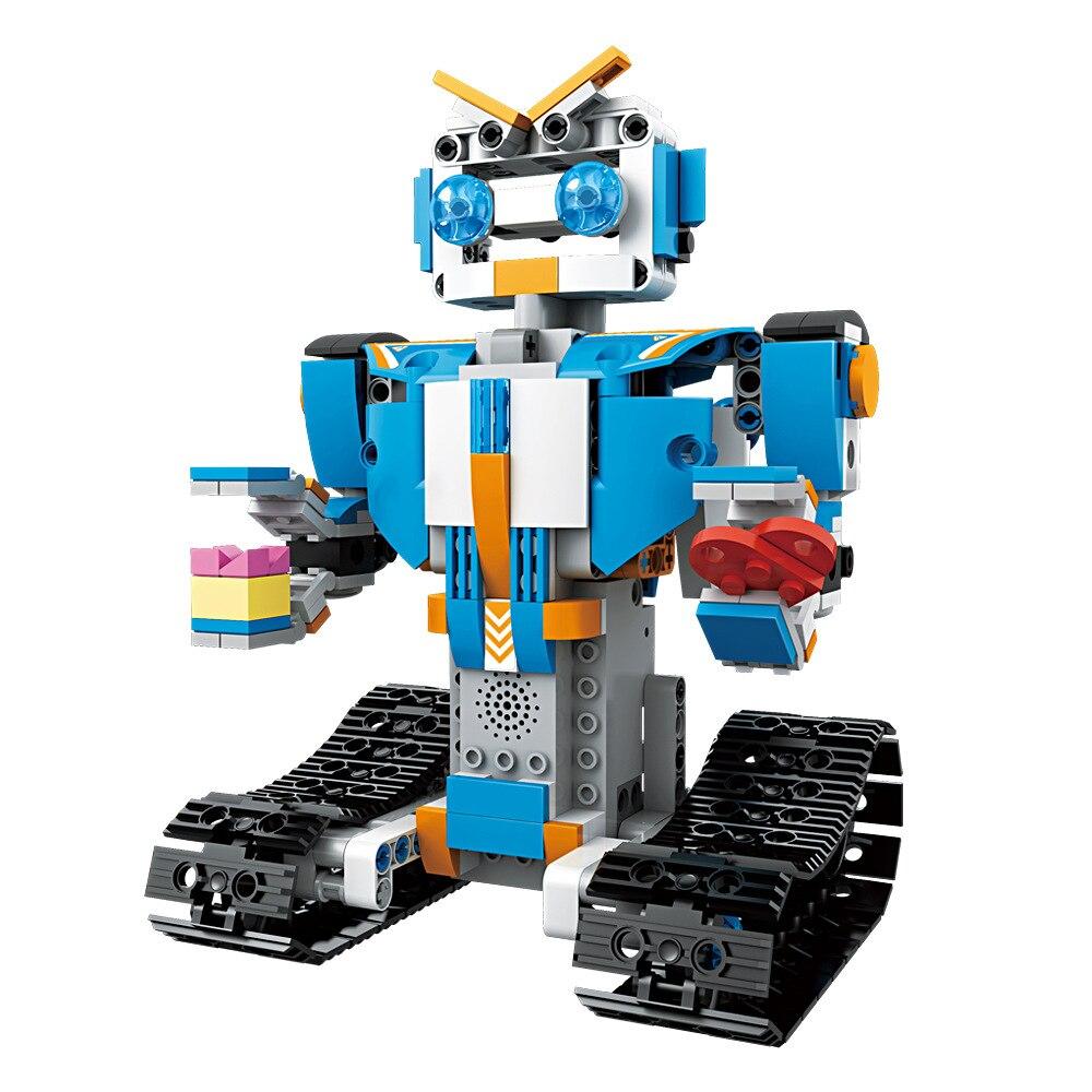 Date 4 canaux télécommande bloc de construction bricolage Robot électrique jouets petite particule Intelligent bloc de construction RC Robot jouet