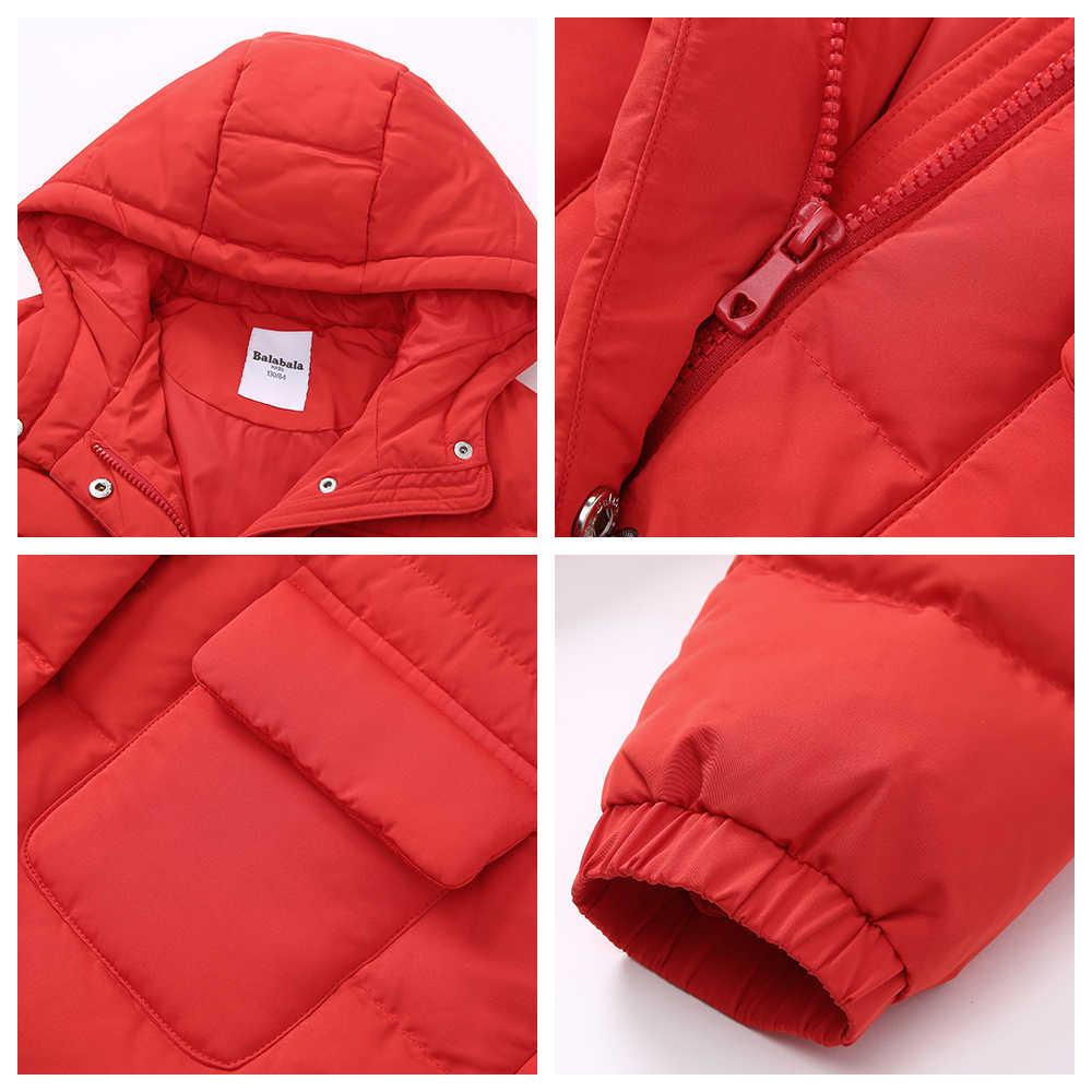 Balabala Kinder Kleidung Mit Kapuze Unten Jacke Dicke mädchen Jacken für Winter ente down Kinder Schneeanzug Mädchen Winter Mantel 6- 11T