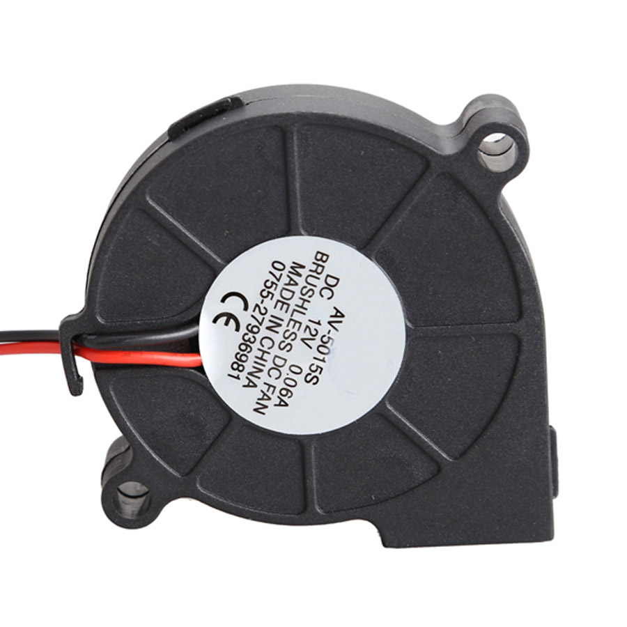 medium resolution of dc 12v 0 06a 50x15mm black brushless cooling blower fan 2 wires 5015s best price in fans cooling from computer office on aliexpress com alibaba group