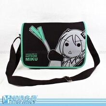 2015 haute qualité anime japonais HATSUNE MIKU thème casual unisexe sac de messager de zipper cartable