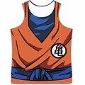 Mais novo Dragon Ball Z Vegeta Goku Regatas Musculação Aptidão Colete Homens Mulheres Hipster Anime tees 3D camiseta DBZ