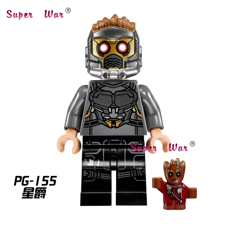 20pcs star wars superhero Guardians of the Galaxy Star-Lord building blocks figure bricks Collection educational baby toys