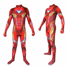 Vingadores Marvel Avengers Endgame Iron Man Costume 3D Print Superhero Suit Halloween Tony Stark For Men Adult Kids