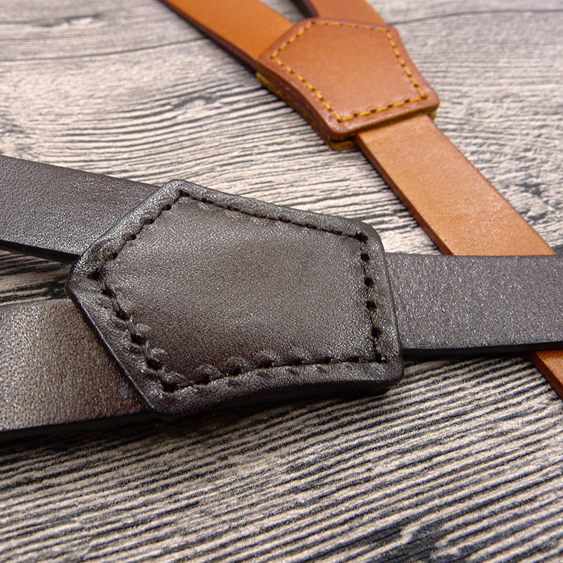 Image 4 - British Style Hook mens Suspenders Vintage Adjustable Unisex Genuine Leather Suspender Bronze Shoulder Strap pant suspenders men-in Men's Suspenders from Apparel Accessories