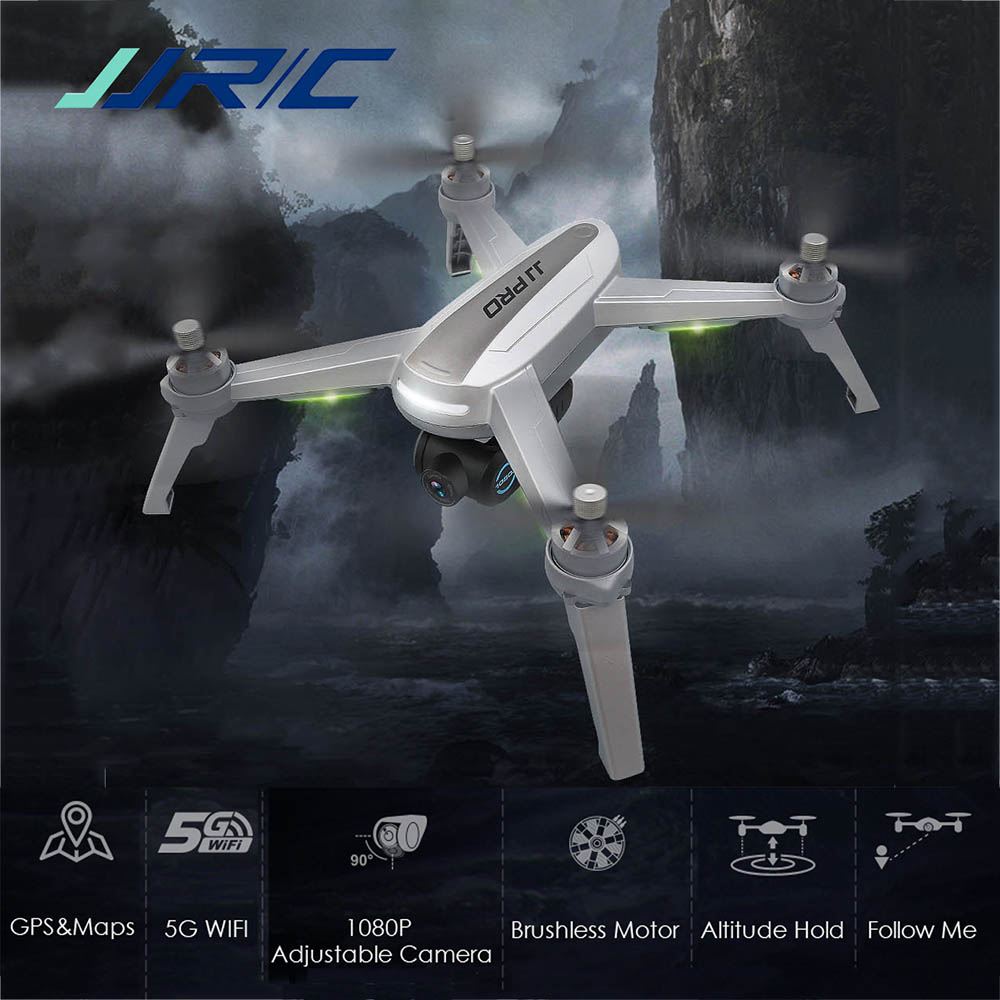 In Stock JJRC JJPRO X5 RC Drone 5G WiFi FPV Professional Dron Brushless GPS 1080P HD