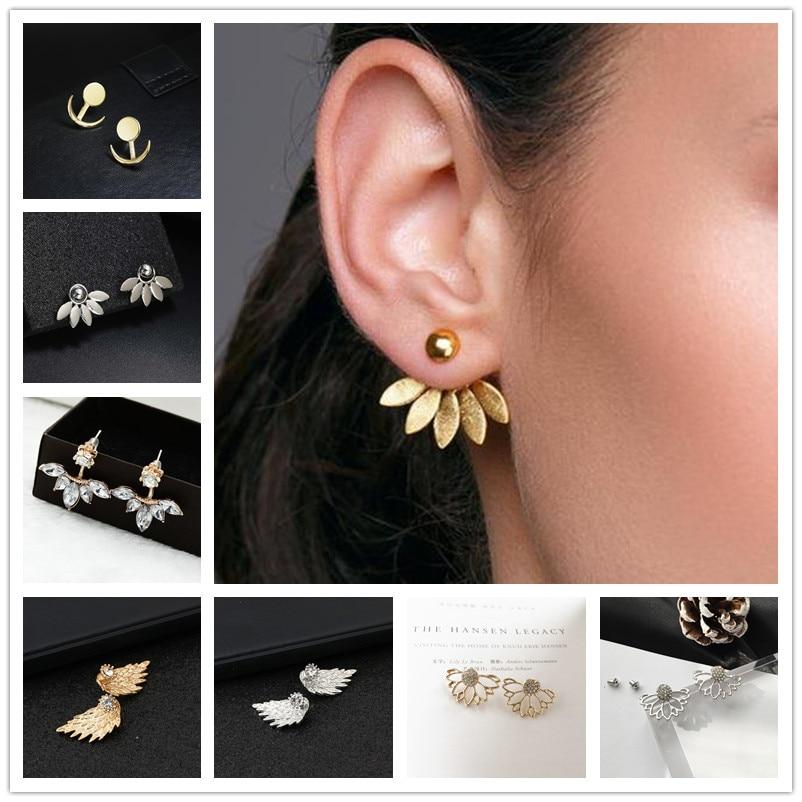 1bc4e742b 2018 New Fashion Stud Earring Romantic Love Earrings Gold and Silver  Earring Women's Fashion oorbellen Jewelry Accessories
