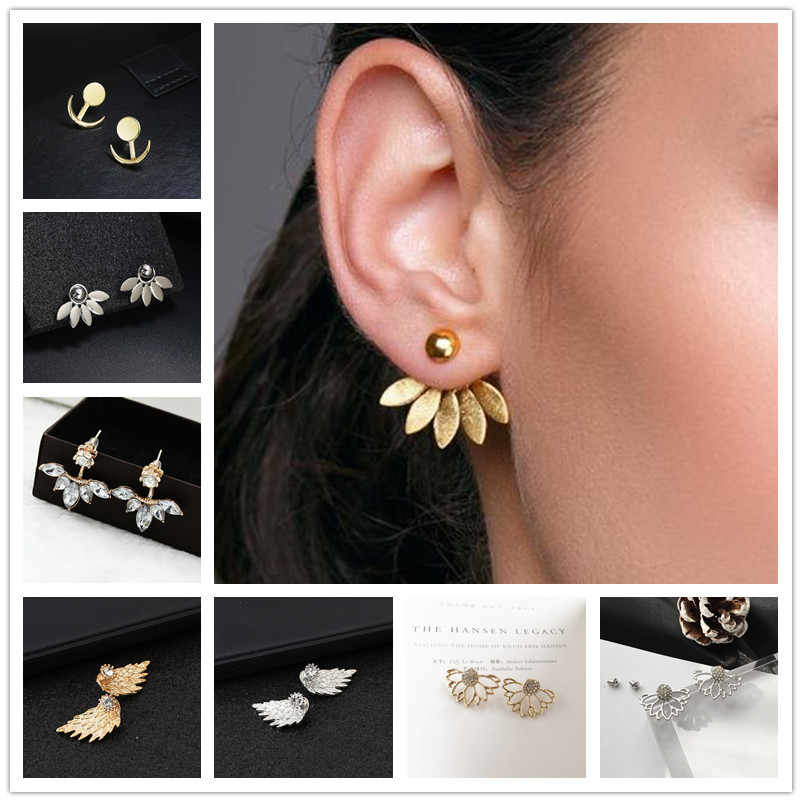 2018 New Fashion Stud Earring  Romantic Love Earrings Gold and Silver Earring Women's Fashion oorbellen Jewelry Accessories