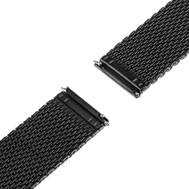 Milanese Band Quick Release 22mm for Motorola Moto 360 2 46mm 2015 Gear 2 R380 R381 R382 Stainless Steel Watch Strap Bracelet
