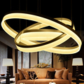 modern pendant light 3 rings Circle Suspension hanging lamp  for restaurants dining room lights LED Lustre de sala lighting