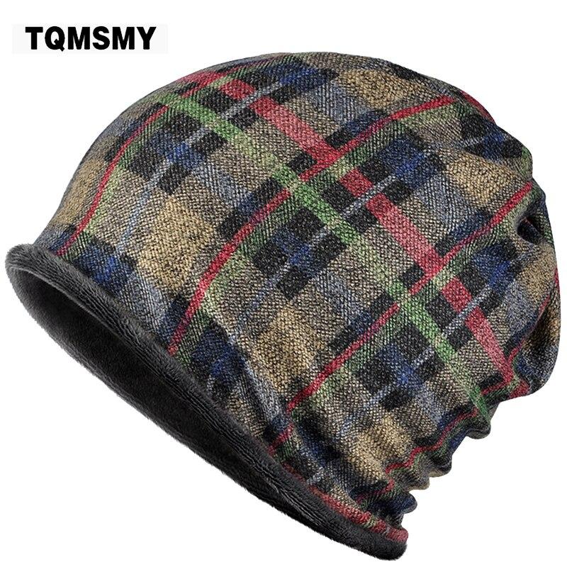 TQMSMY 2017 New Beanies Winter Grid Hip-Hop Collar Scarf Hats for Men Women Skullies Baggy Cap with Velvet TMG804 пилки для электролобзика сибртех 78234