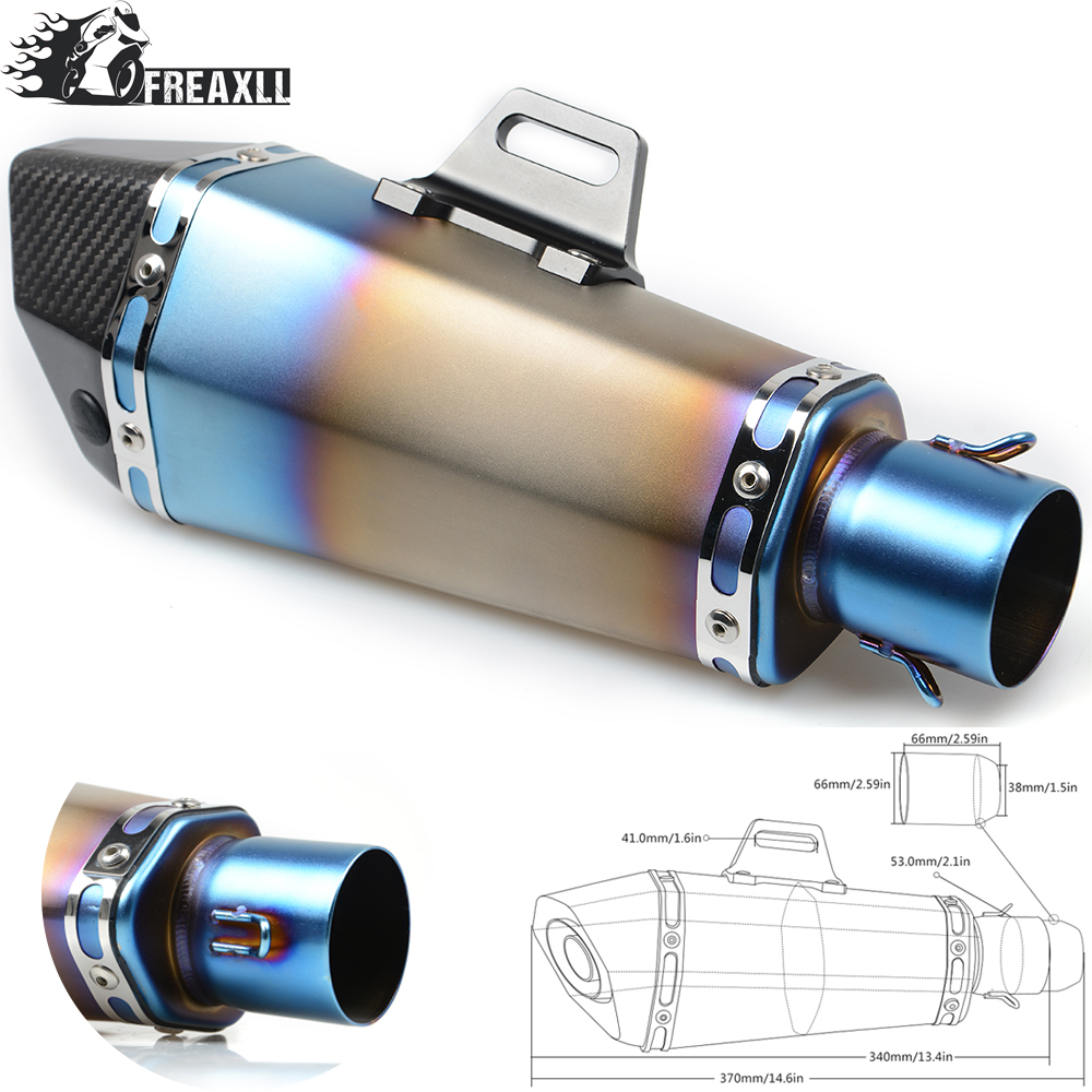 36 51MM Universal Motorcycle Exhaust Pipe muffler Dirt Bike With DB Killer For Honda PCX XADV CB 650 F CBR 125 1000 Integra 700 in Exhaust Exhaust Systems from Automobiles Motorcycles