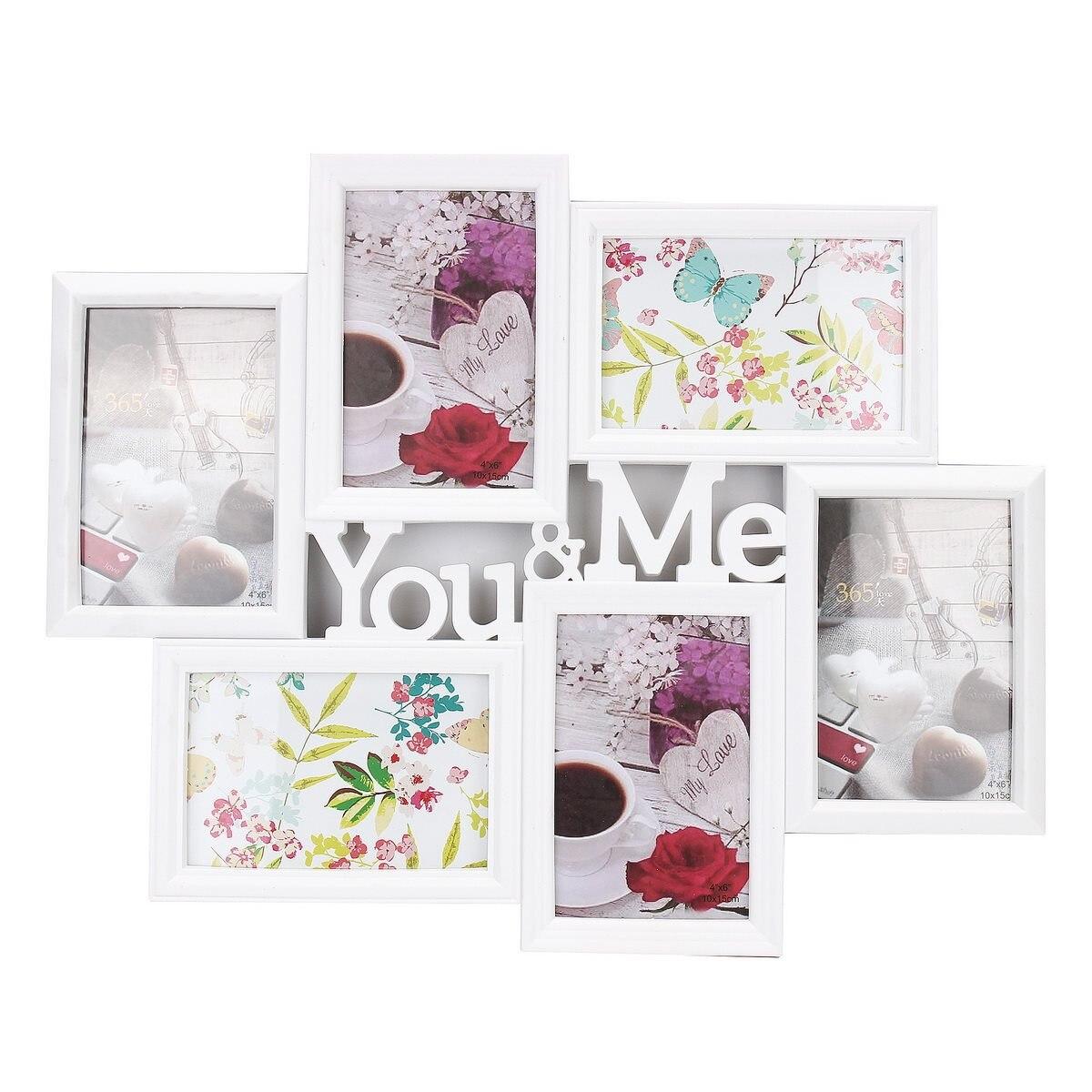 Sie & Me Bilder 6 Bilder Display Blende Foto Frame Wand dekor ...