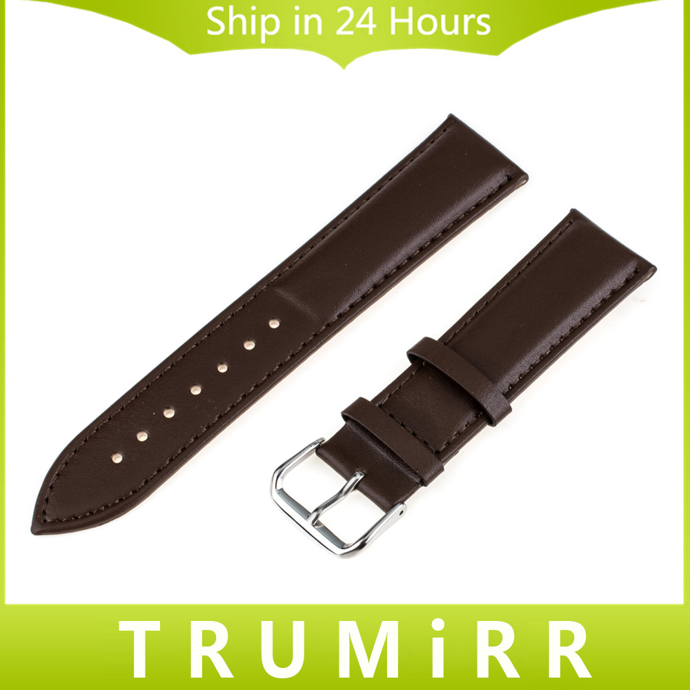 Genuine Leather Watchband 18mm 20mm for DW Daniel Wellington Watch Band Wrist Strap Stainless Steel Buckle Bracelet Brown Black