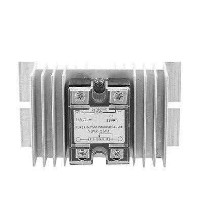 Solid State Relay Voltage Resistance Regulator SSR 25Amp 25-380V AC w Heat Sink bebivita пюре bebivita бебивита овощное ассорти 100 г с 7 мес
