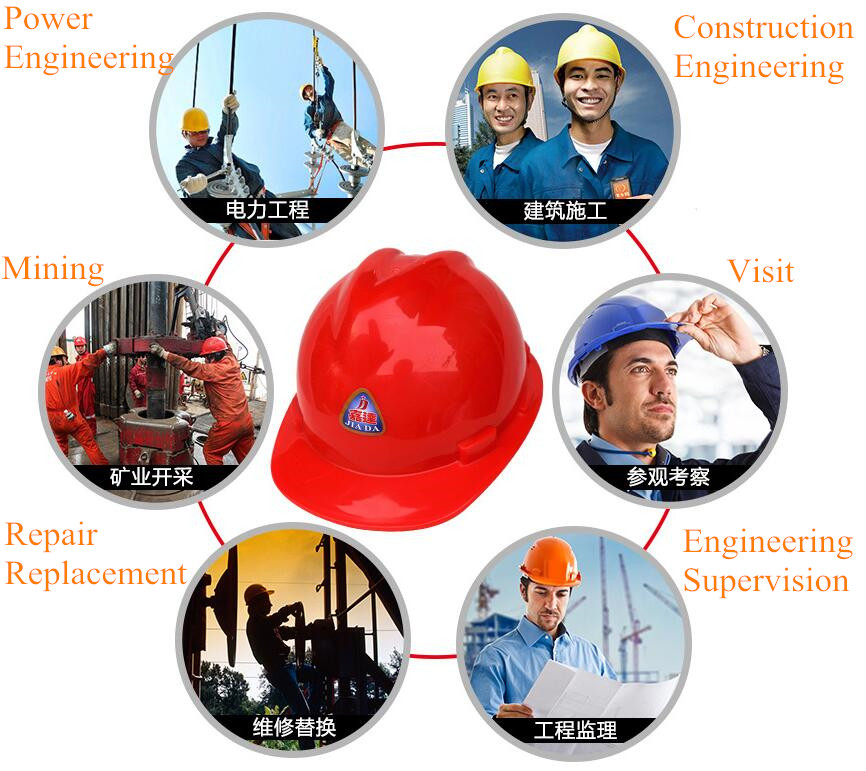 HDPE plastic V-type safety helmet Construction site New Site engineering hat helmets Workpace Helmet for sale