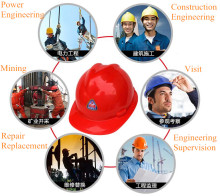 HDPE plastic V-type safety helmet Construction site New plastic helmet Site engineering hat helmets Workpace Helmet for sale site