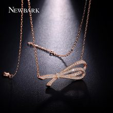 NEWBARK Charming Necklaces For Women Half Bowknot Pendant Gold/Silver Colors Chain Colares Femininos Mujer Bijoux Accessories